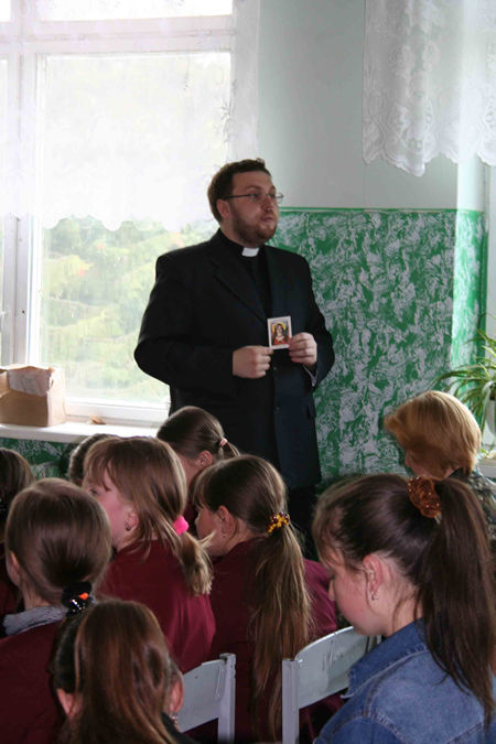 The retreat for the children of the school, Father Ivan Kolodiy, Ukraine.